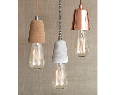 Ando 1 Light Pendant in Concrete | Modern Pendants | Pendant Lights | Lighting
