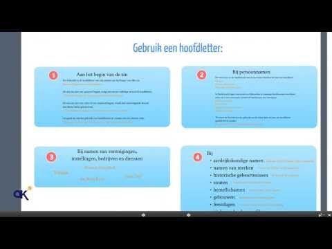 Spellingregels deel 1: Hoofdletters - YouTube