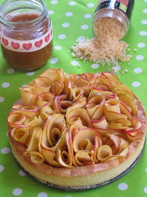 Recette de Elo à la bouche : tartelette #pomme bouquet et caramel au beurre salé