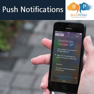 BulkPush is a #push #notifications services Provider Company provides push notification to various platforms, including iOS, Android, Windows 8, Blackberry, Mac OS X. - http://goo.gl/nDfYJZ