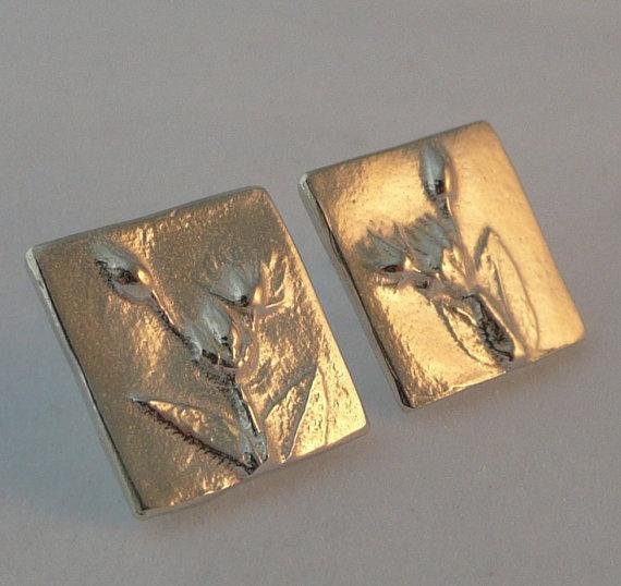 Sterling silver stud earrings by Susan Lee Studios on etsy