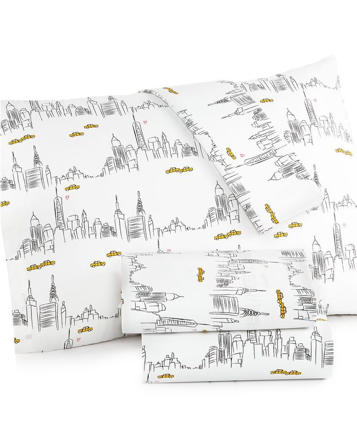 Martha Stewart Whim Collection Novelty Print 200 Thread Count California King Sheet Set, Only at Macy's