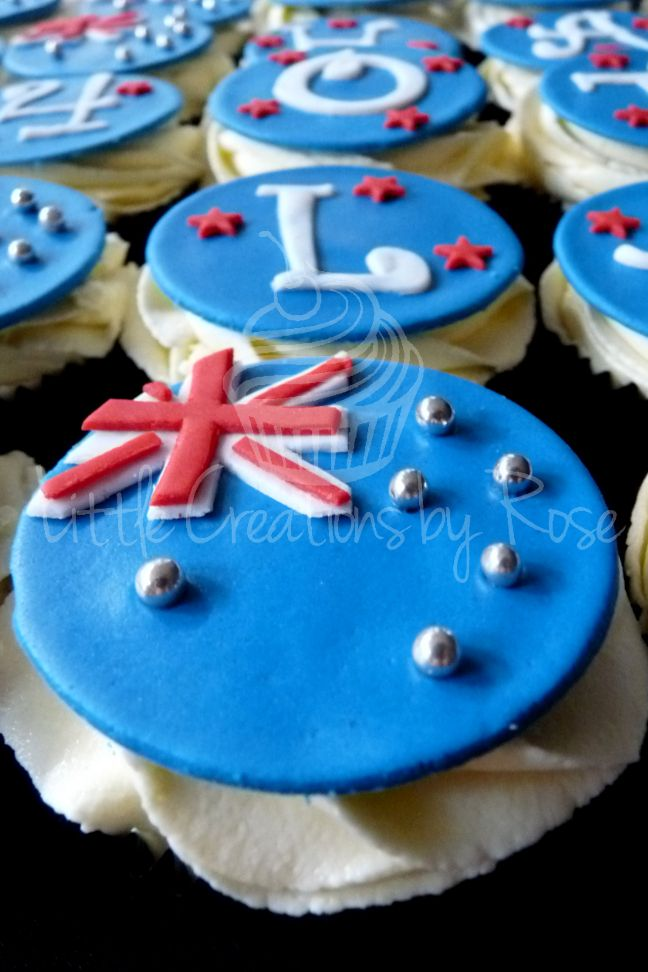 Australia day cupcakes!    All cupcakes handcrafted by Little Creations By Rose www.facebook.com/LCByRose