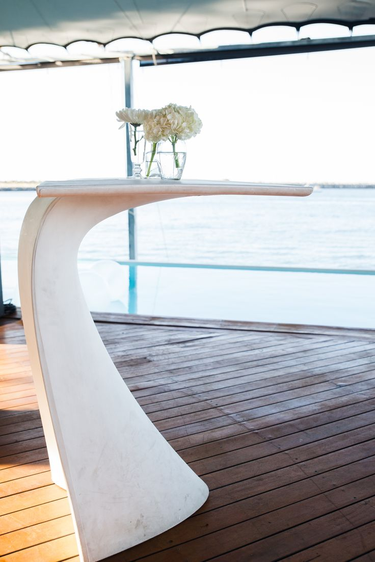 amazing bar table white contemporary and futuristic bar