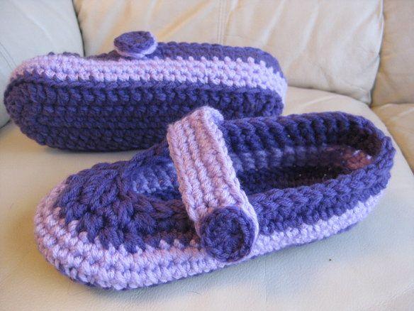 Crochet slippers fit size 8.5 -9