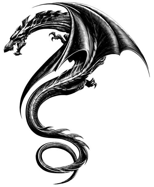 """Tatoo - Dragon - This is the tattoo Rooney had in the film """"The girl with the dragon tattoo"""