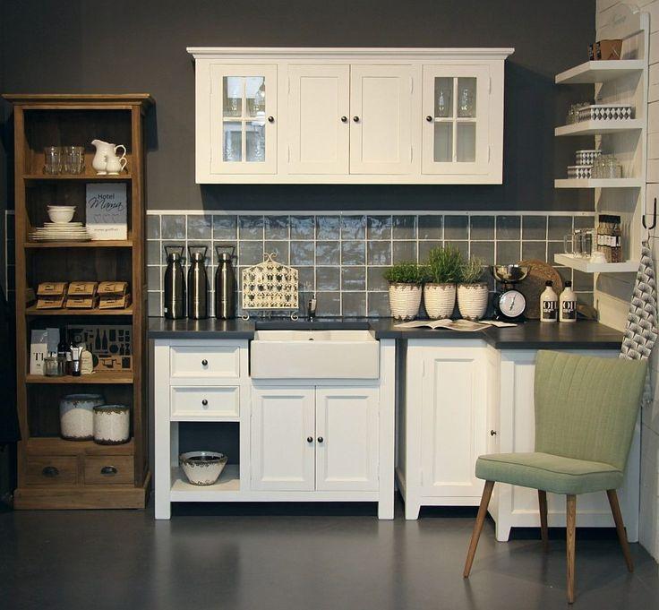 79 best Landhausstil images on Pinterest Kitchen ideas, Cottage - kchen weiss landhausstil modern