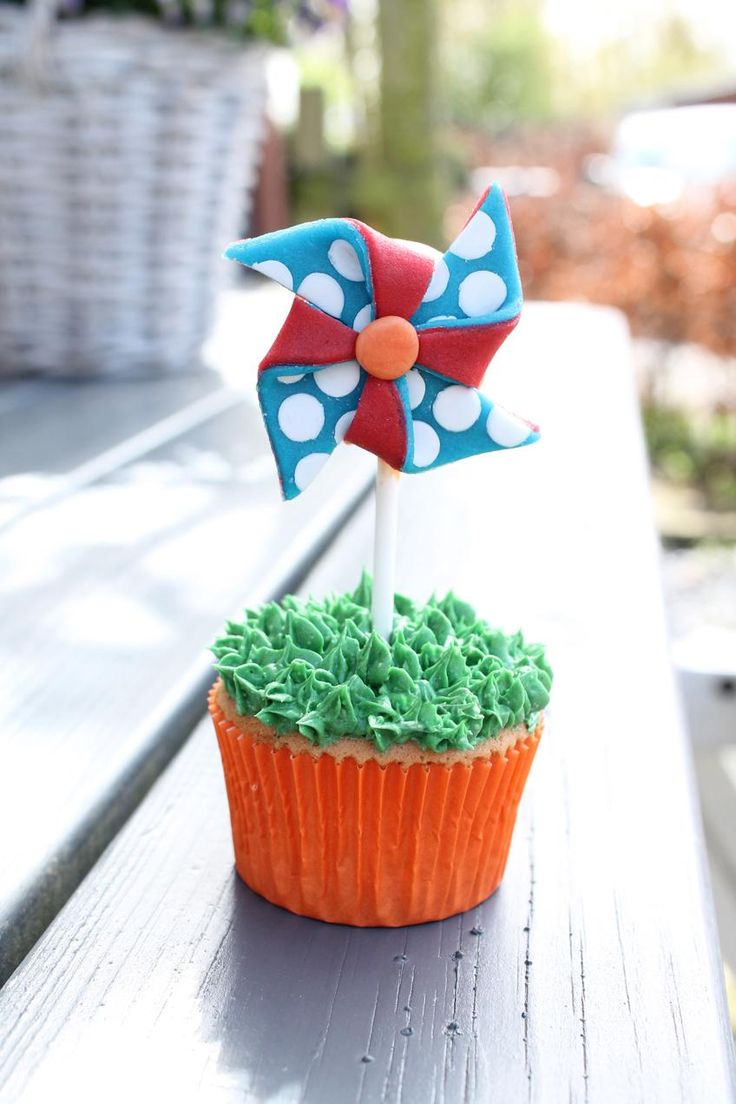 Windmolen Cupcakes recept   Dr.Oetker