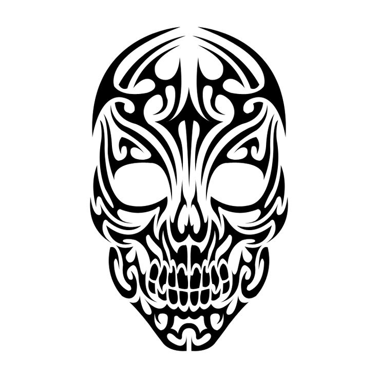 Tribal Skull by Shadow696.deviantart.com