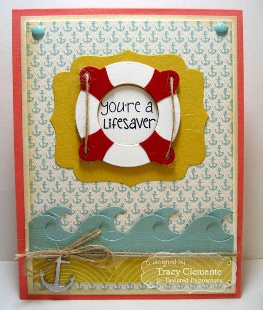 You're a Lifesaver Card by Tracy Clemente #ThankYou, #Cardmaking, #KIKit