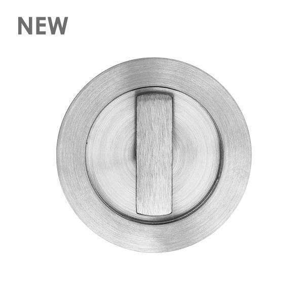 Round flush pull Ø65 with turn snib-Door - CAN GET IN BLACK