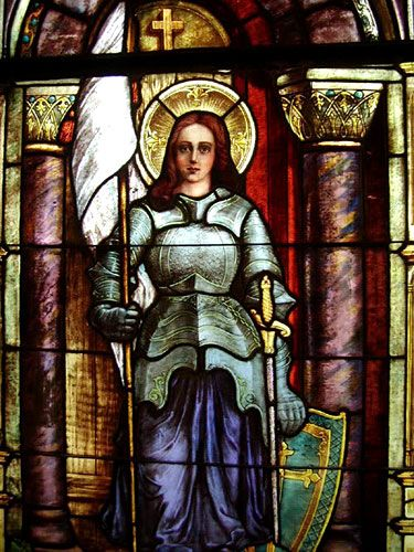 Pictures of Joan of Arc | Joan of Arc - Maid of Heaven - Stained Glass Window of Joan in Chruch ...