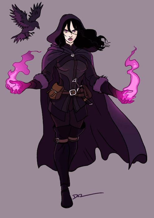 Female witch reference magic