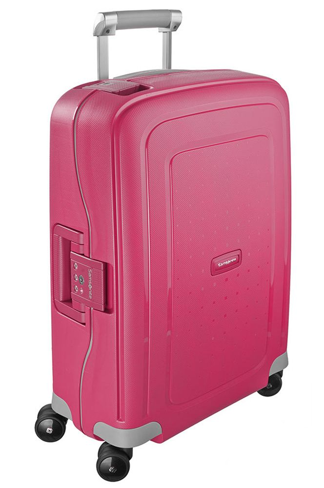 Samsonite S'Cure 55cm/20inch Spinner Pink. Buy today at http://www.luggage-uk.co.uk/samsonite-scure-55cm20inch-spinner-pink/p1123