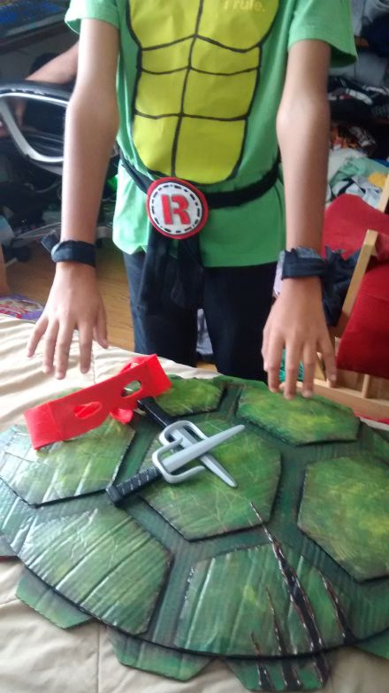 Easy DIY Teenage Mutant Nnja turle costume