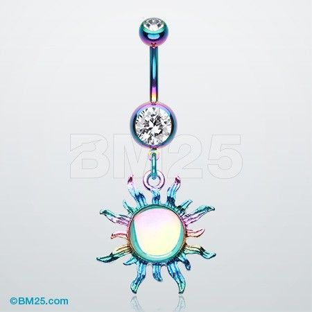 Colorline Iridescent Blazing Sun Belly Button Ring