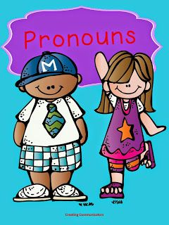 FREE pronoun activities for speech therapy.