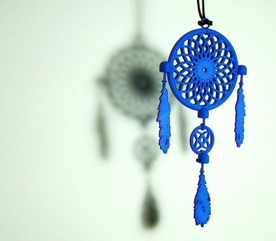 Dream Catcher Necklace Pendant chunky 3D by FacetiousDesigns