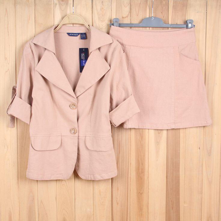 Cáqui cor mulheres Blazer e saia ternos OL Lady marca Desigual de alta qualidade mulheres ternos de negócio ternos formais escritório de trabalho pano em Ternos com Saia de Roupas e Acessórios Femininos no AliExpress.com | Alibaba Group