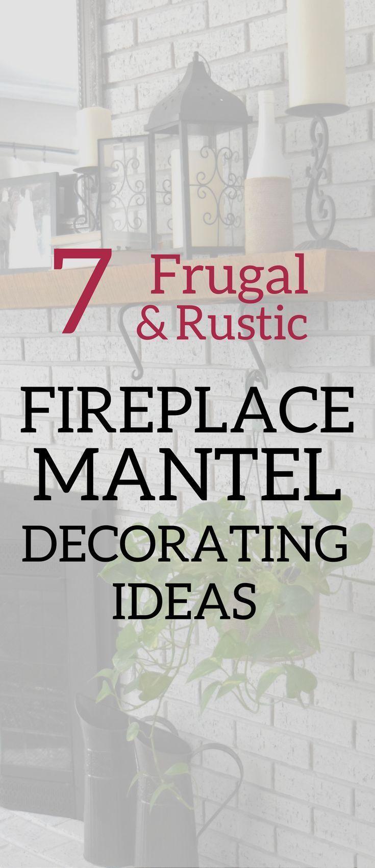 A Brick Home: Fireplace mantel decorating ideas, everyday mantel decorating ideas, mantel decor on a budget