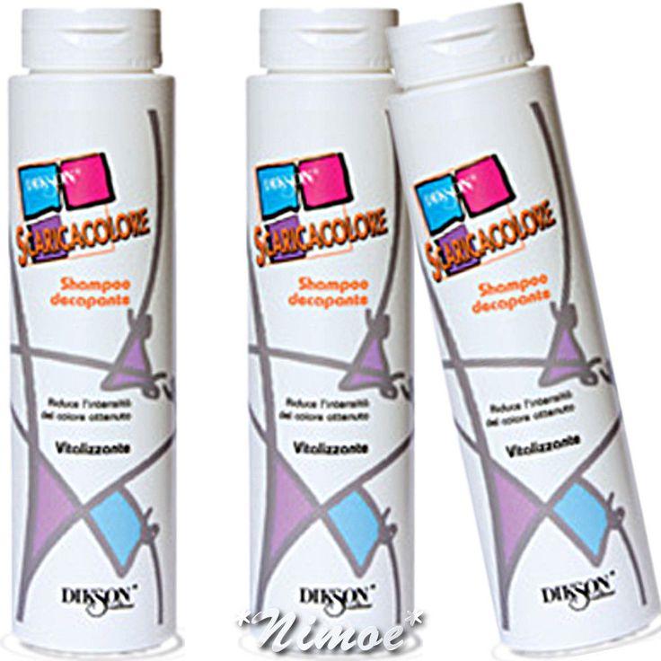 Scaricacolore Shampoo Decapante 3 x 250ml Dikson ® Riduce l'intensità del Colore