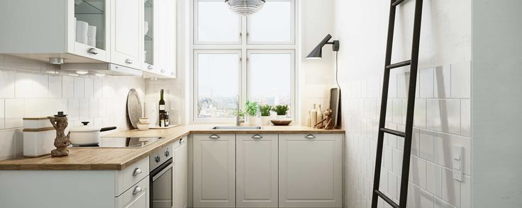 Small kitchen in romantic style