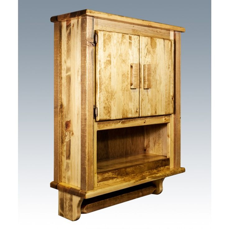 Homestead Barnwood Wall Cabinet Rustic Bathroom Ideas But No Toilet Paper Made Out Of Bark