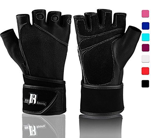 Weight Lifting Gloves With Wrist Wrap Best Lifting Gloves Premium Weights Lifting Gloves Rowing Gloves Biking Gloves Training Gloves Crossfit Gloves  Grip Gloves Black XL *** Click on the image for additional details. (Note:Amazon affiliate link)