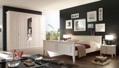 Stunning Bett X Cm Mit Nako Set Kiefer Massiv Weiss Lasiert Woody Klassisch