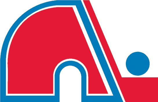 Quebec Nordiques Primary Logo (1980) - A red N next to a hockey stick, formed together as an igloo