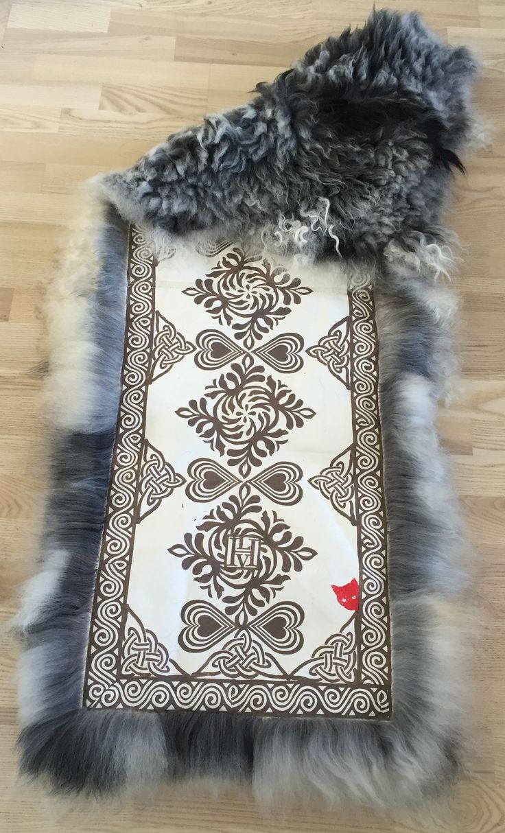 Sheepskin rug for a chair