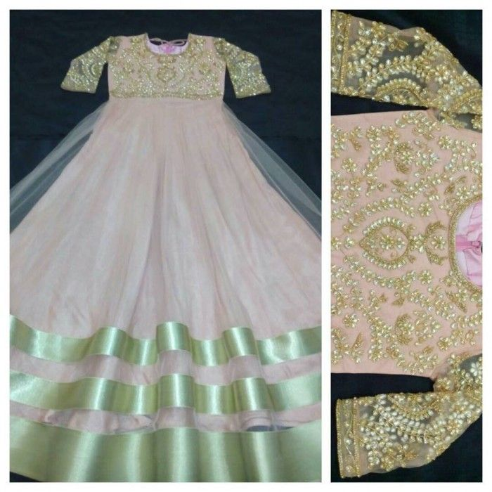 Stunning Dusty Pink Anarkali