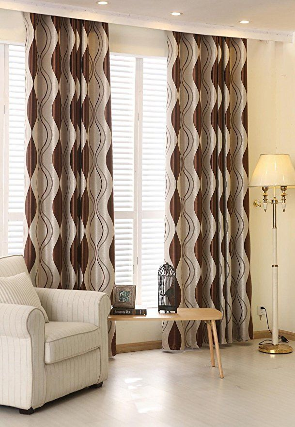 amazon curtains living room furniture ideas com zwb darkening thermal insulated blackout grommet window curtain for decoration striped 1 panel 75