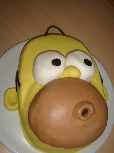 Birthdaycake to my teenage son who loves the Simpsons