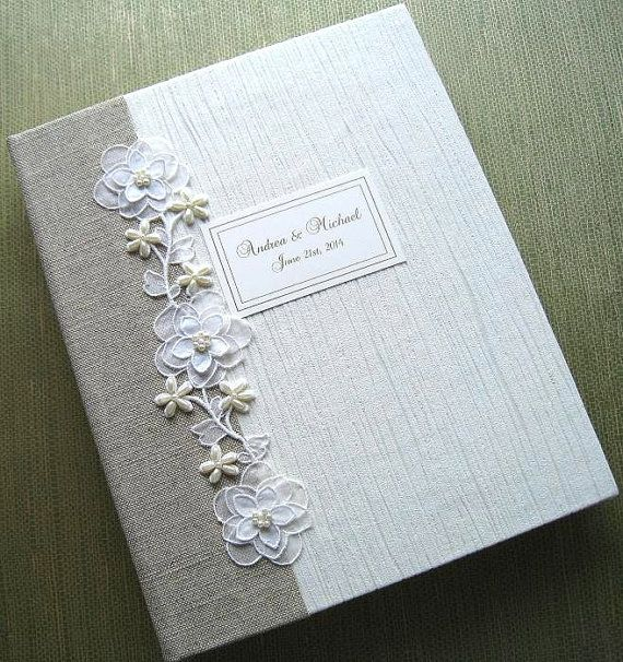 8x10 Wedding Albums: Personaliized Handmade Wedding Photo Album Natural By