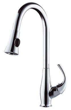 LAVELLI CUCINA miscelatore monocomando lavello con bocca alta girevole e doccetta estraibile PR21627 - Bagno Italiano
