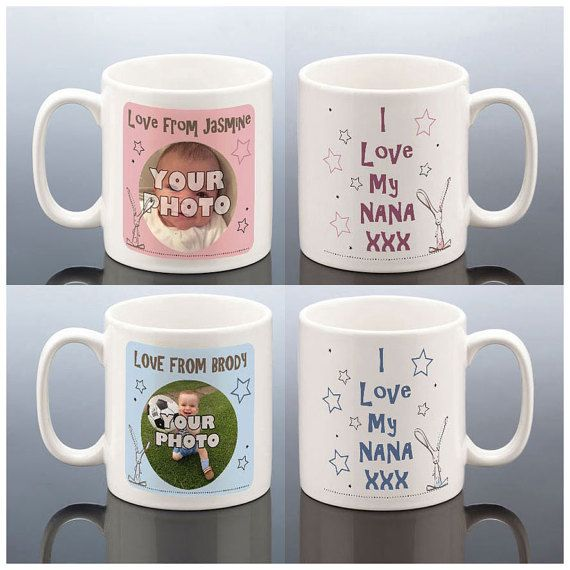 items similar to i love my nana personalised photo mug birthday gift idea for nan grandma mug nanna birthday present personalised photo mug personalized - Mug Design Ideas