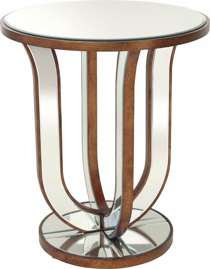 OnLine Atelier - Loja Virtual - arte - decoração - deign-  Mesa lateral espelhada de cor cobre com 4mm de espelho chanfrado e estrutura em MDF pintado com 60 x 60 x 70. Pronta entrega Informações: (54) 9165-9726 - onlineatelier@hotmail.com