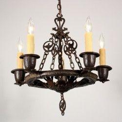 14 best lighting tudor images on pinterest lamps tudor and sold amazing antique five light figural tudor chandelier by virden cast iron aloadofball Choice Image