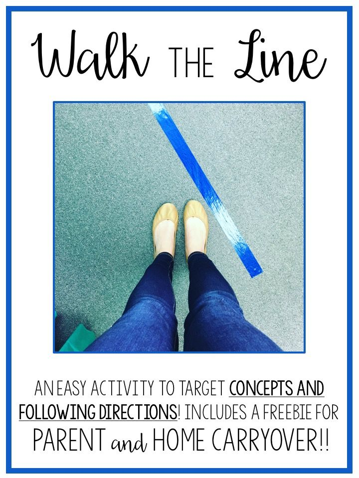 Walk the Line! A No-Prep Speech Therapy Activity