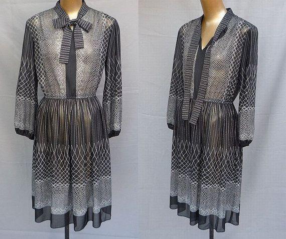Vintage 70s Dress 1970s Secretary Day Dress by CatseyeVintage, $28.99