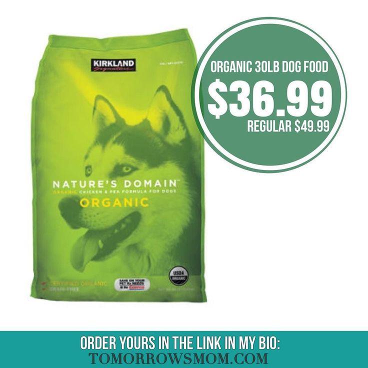 Kirkland organic dog food 30lb bag on sale now for costco