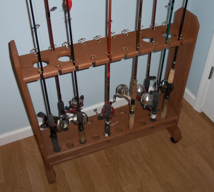 Free-standing Fishing Rod Storage