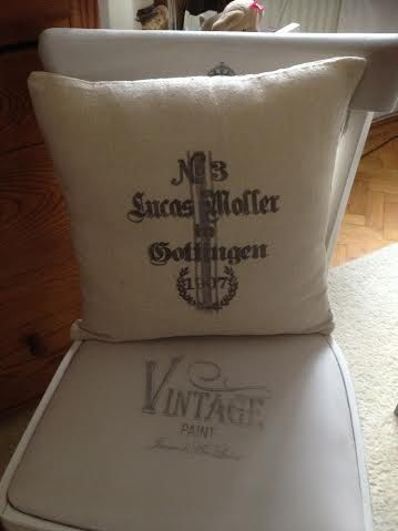 Vintage Cushion with Provencal Style by ByBeeSee on Etsy