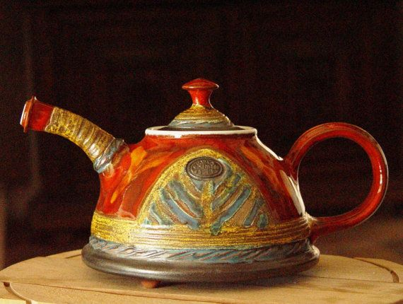 Handmade Pottery Teapot Rustic Wedding gift by DankoHandmade