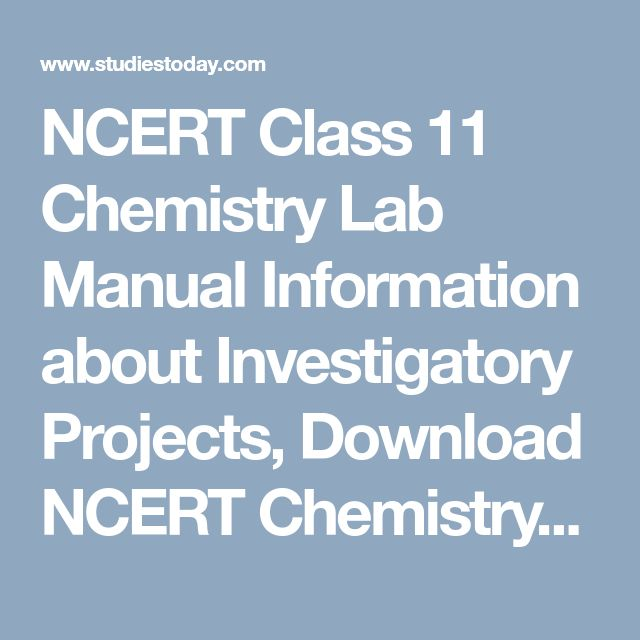 The 25 best investigatory project ideas on pinterest crazy hats ncert class 11 chemistry lab manual information about investigatory projects download ncert chemistry books for solutioingenieria Gallery