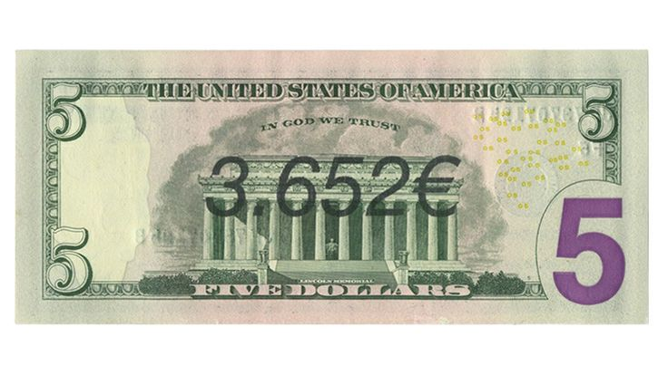 Ben Papyan 3.652€ 2013 money art, graffiti, bill, print, banknote, dollar, euro