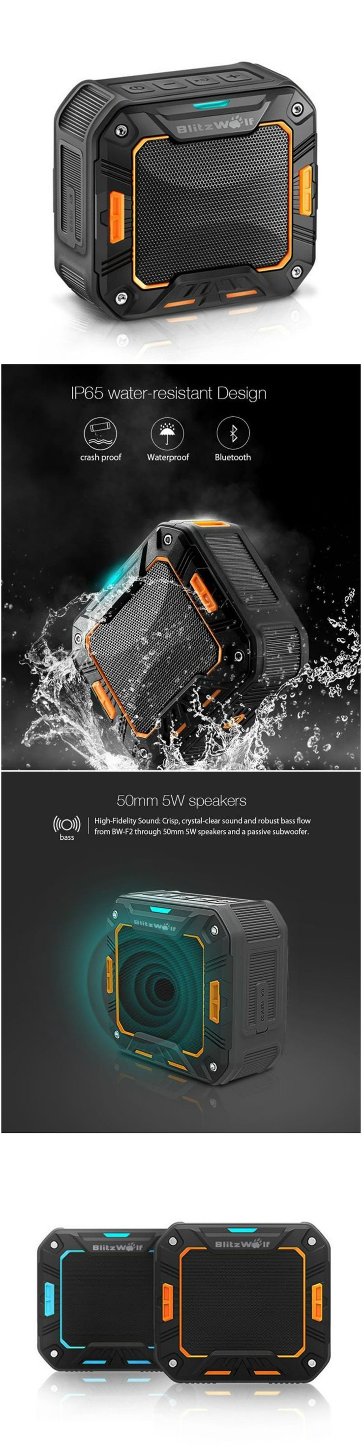 New Portable Mini Water-Resistant Outdoor Wireless Hands-Free Bluetooth Speaker