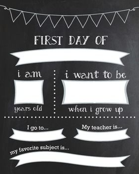 first day of school sign template - 25 best ideas about first day printable on pinterest