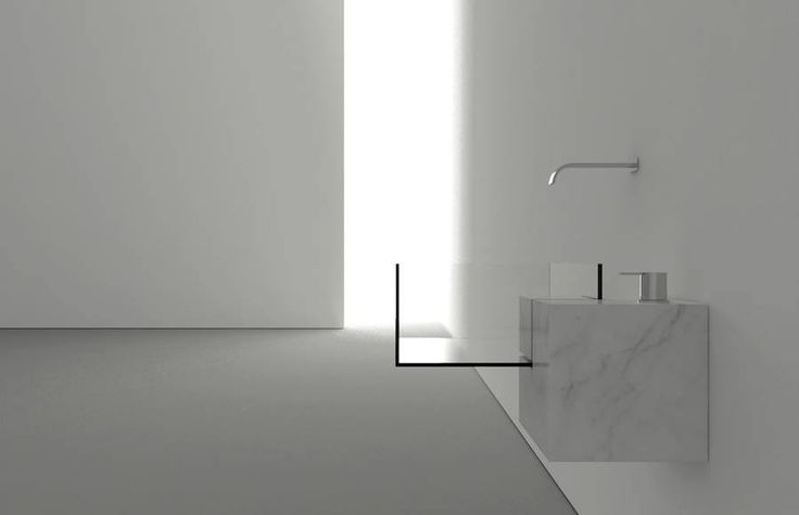 Invisible Bathroom Sink Made of Marble and Glass by Victor Vasilev  http://www.victorvasilev.com/